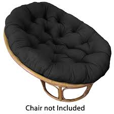 Amazon.com: Cotton Craft Papasan Chair Cushion Black, Pure 100% Cotton duck  fabric, Fits Standard 45IN rnd Chair: Home & Kitchen