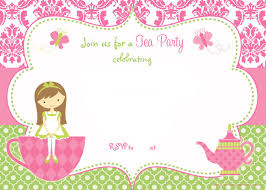 Tea Party Invitations Free Template Free Printable Tea Party Invitation Template For Girl Tea