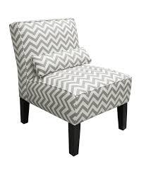 amazoncom skyline furniture armless chair in zig zag grey