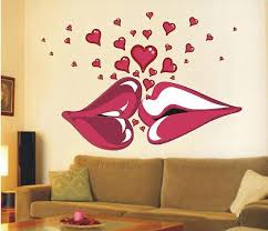 y lips kiss 140x100cm large vinyl wall stickers on the walls bedroom decorative wall stickers room decals sofa decoration vinyl wall decals kids vinyl
