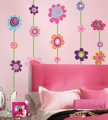 Girls Bedroom with Flower Wall Stickers