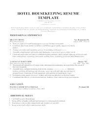 Hospital Housekeeping Resume Skills Cv Template Templates Delectable Housekeeping Resume Skills