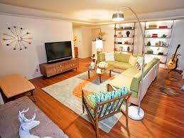 mid century modern eclectic living room. Mid Century Modern Eclectic Living Room Hillary Thomas Hgtv Beautiful Multicolor Midcentury Photos Pinterest