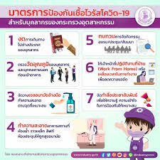 รัฐบาลไทย-ข่าวทำเนียบรัฐบาล- มาตรการป้องกันเชื้อไวรัส #โควิด-19  สำหรับบุคลากรของกระทรวงอุตสาหกรรม