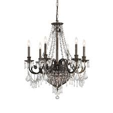 classic williamsburgs 6 light candle chandelier finish oil regarding rubbed bronze with crystals inspirations 9