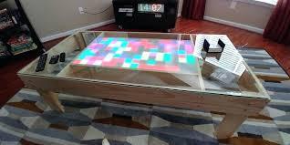 coffee table led dan coffee table with fridge led lights