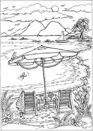 coloring page from creative haven summer scenes coloring book dover publications