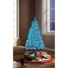Holiday Time PreLit 4u0027 TealBlue Artificial Christmas Tree Clear 4 Christmas Trees