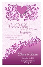 wedding book cover template wedding program cover template 12b