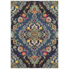 sphinx oriental weavers area rugs bohemian rugs 761n5 traditional navy fl country rugs area rugs by style free at powererusa com