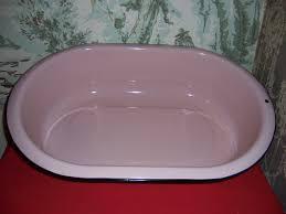 pink enamel baby bathtub ideas