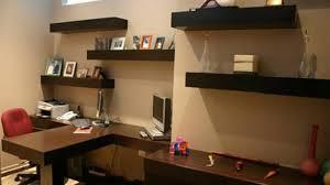 office floating shelves. Office Floating Shelves With Elegant Shelf Decor  Over Desk Above Within Office Floating Shelves E