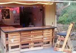 diy pallet patio bar. Diy Pallet Bar. Bar Lshapebarwithwoodpallets To Patio A