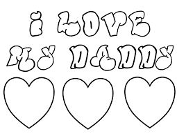 Small Picture Love Heart Coloring Pages Love My Dad Fathers Day Coloring