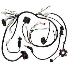 scooter wiring harness ebay Znen Wiring Harness Connected To Battery wiring harness gy6 150cc 125cc electrics buggy scooter wire loom stator soleniod