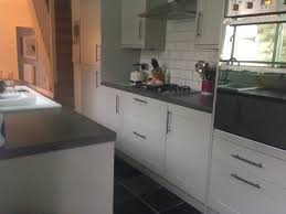Slate For Kitchen Floor Slate Floors White Cabinets Black Granite Kitchens Pinterest
