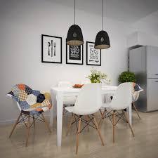 dark gray fabric seat armless chairs scandinavian dining room lighting minimalist black round dining table square