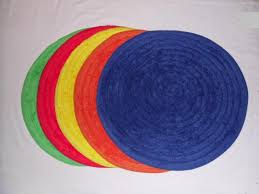 round bath rugs colorful