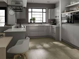 Kitchen Marble Floor Grey Kitchen Walls Stove And Sink Cube Carving Glass Chimney Cream