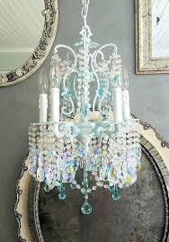 aqua chandelier vintage chandelier light aqua chandelier petite chandelier home decor vintage lighting aqua blue chandelier