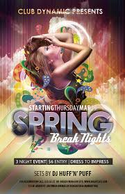 Free Club Flyer Templates For Spring Break Photoshop Psd
