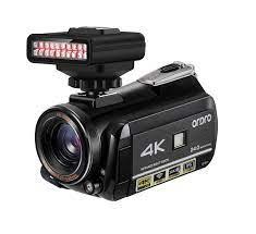 Video Kamera Camcorder 4k YouTube Kamera für Blogger Vlogging Ordro AC3  WiFi IR Nachtsicht 30X Digital Zoom Kameras mit Licht|Consumer-Camcordern