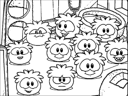 Club Penguin Coloring Pages Printable To Good Coloringsuite Com