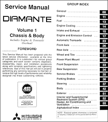 1997 mitsubishi diamante repair shop manual set original find out what is covered in page 2 of the table of contents by clicking here covers all 1997 mitsubishi diamante models including es and ls luxury sedan