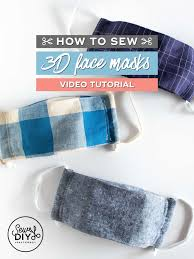 How to sew a <b>3D face mask</b> quickly and easily (Video tutorial and ...
