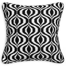 Jonathan Adler Black And White Waves Throw Pillow