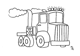 Small Picture Big Rig Truck Coloring Page Crayon Action Coloring Pages