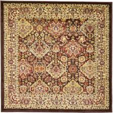 unique loom voyage brown 4 x 4 square rug