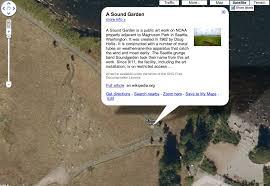 a sound garden google earth soundgarden park soundgarden has a thing
