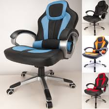 office recliner chairs. RayGar Deluxe Padded Sports Racing, Gaming \u0026 Office Chair Blue Recliner Chairs N