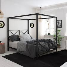 DHP Rosedale Metal Canopy Bed Frame, Queen Size, Multiple Colors ...
