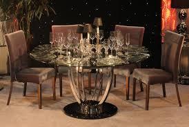 Glass Kitchen Tables Round Seelatarcom Design Round Banquette