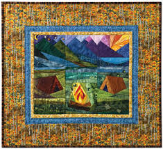 Sugarloaf Campground | A Quilt - CAMPING | Pinterest | Paper ... & Sugarloaf Campground Free Quilt Foundation Pattern from Quiltmaker Magazine Adamdwight.com
