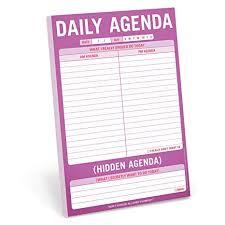 Agenda List Knock Knock Daily Agenda Hidden Agenda Pad To Do List Note Pad 6 X 9 Inches