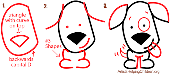 Small Picture Big Guide to Drawing Cartoon Dogs Puppies with Basic Shapes for