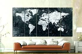 framed world maps large map canvas wall art also black and white ikea framed world maps explorer map canvas 3d art