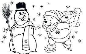 Free Printable Preschool Winter Coloring Pages Childrens