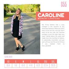 Llr Caroline Size Chart Use This Sizing Chart To Find Your Perfect Caroline Size