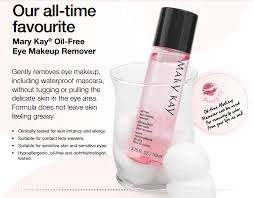 gently removes eye makeup including waterproof mascara without tugging or pulling the delicate skin in the mary kay oil free