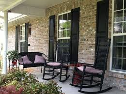front porch after spray painting shutters n chairs used spray paint for plastic on shutters