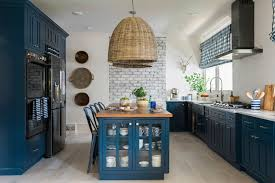 Being Bold Go For Color On Kitchen Cabinets