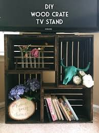 check out how to build a tv stand from crates