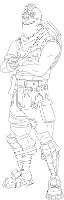 Fortnight Coloring Pages Fortnite Lynx Skin Coloring Pages