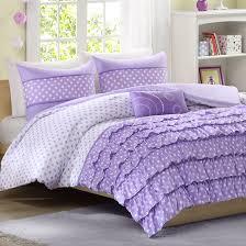mizone morgan twin xl comforter set purple polka dots