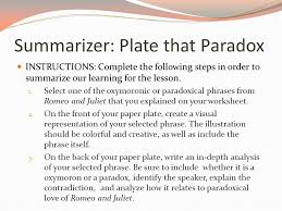 oxymorons and paradoxes ppt video online  5 summarizer plate that paradox