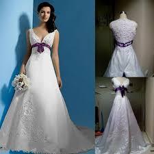 plus size white and purple wedding dress naf dresses